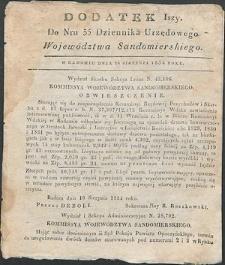 Dziennik Urzędowy Województwa Sandomierskiego, 1834, nr 35, dod. I