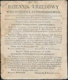 Dziennik Urzędowy Województwa Sandomierskiego, 1834, nr 36
