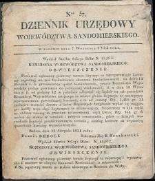 Dziennik Urzędowy Województwa Sandomierskiego, 1834, nr 37