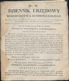 Dziennik Urzędowy Województwa Sandomierskiego, 1834, nr 38
