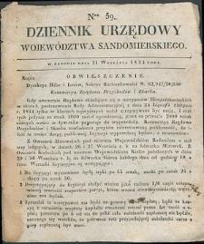 Dziennik Urzędowy Województwa Sandomierskiego, 1834, nr 39