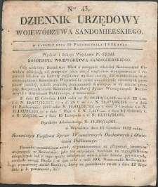 Dziennik Urzędowy Województwa Sandomierskiego, 1834, nr 43