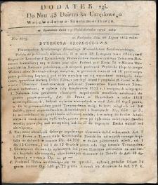 Dziennik Urzędowy Województwa Sandomierskiego, 1834, nr 43, dod. II