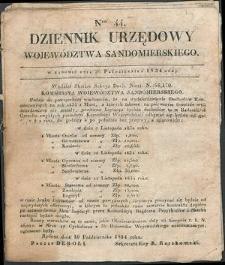 Dziennik Urzędowy Województwa Sandomierskiego, 1834, nr 44