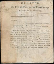 Dziennik Urzędowy Województwa Sandomierskiego, 1834, nr 45, dod.