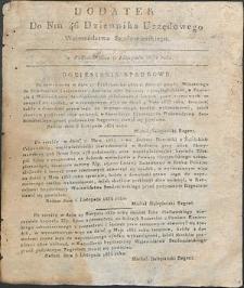 Dziennik Urzędowy Województwa Sandomierskiego, 1834, nr 46, dod.