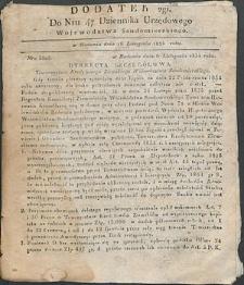 Dziennik Urzędowy Województwa Sandomierskiego, 1834, nr 47, dod. II