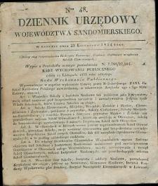 Dziennik Urzędowy Województwa Sandomierskiego, 1834, nr 48