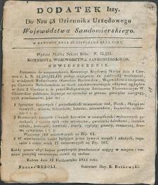 Dziennik Urzędowy Województwa Sandomierskiego, 1834, nr 48, dod. I