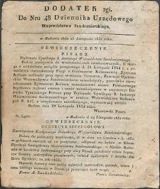 Dziennik Urzędowy Województwa Sandomierskiego, 1834, nr 48, dod. II