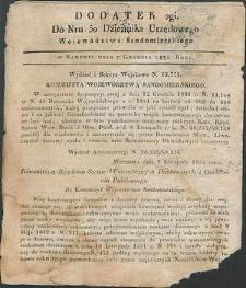 Dziennik Urzędowy Województwa Sandomierskiego, 1834, nr 50, dod. II