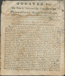 Dziennik Urzędowy Województwa Sandomierskiego, 1834, nr 52, dod. I