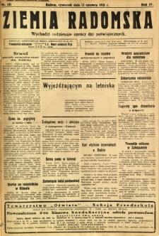 Ziemia Radomska, 1931, R. 4, nr 131