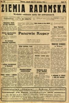 Ziemia Radomska, 1931, R. 4, nr 132