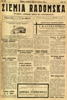 Ziemia Radomska, 1931, R. 4, nr 134