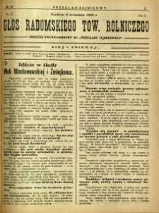 Przegląd Sejmikowy : Urzędowy Organ Sejmiku Radomskiego, 1926, R. 5, nr 34, dod.