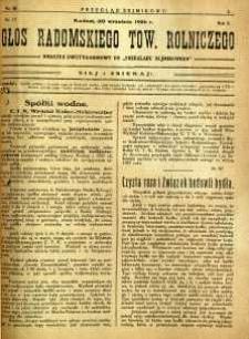 Przegląd Sejmikowy : Urzędowy Organ Sejmiku Radomskiego, 1926, R. 5, nr 38, dod.