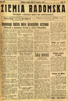 Ziemia Radomska, 1931, R. 4, nr 136