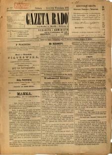 Gazeta Radomska, 1885, R. 2, nr 77
