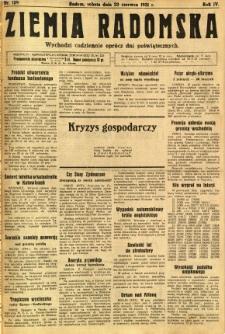 Ziemia Radomska, 1931, R. 4, nr 139