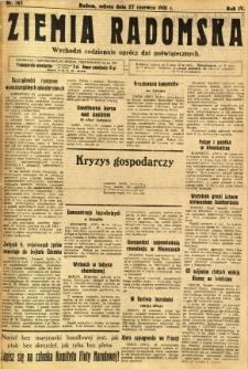 Ziemia Radomska, 1931, R. 4, nr 145