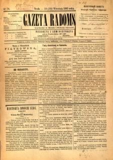 Gazeta Radomska, 1885, R. 2, nr 78