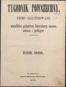 Tygodnik Powszechny, 1882, spis