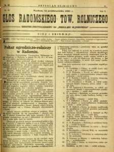 Przegląd Sejmikowy : Urzędowy Organ Sejmiku Radomskiego, 1926, R. 5, nr 40, dod.