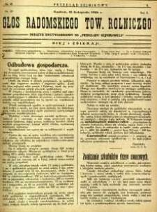 Przegląd Sejmikowy : Urzędowy Organ Sejmiku Radomskiego, 1926, R. 5, nr 45, dod.