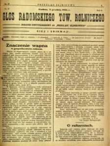 Przegląd Sejmikowy : Urzędowy Organ Sejmiku Radomskiego, 1926, R. 5, nr 47, dod.