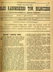 Przegląd Sejmikowy : Urzędowy Organ Sejmiku Radomskiego, 1926, R. 5, nr 51, dod.