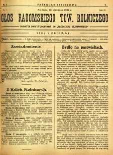 Przegląd Sejmikowy : Urzędowy Organ Sejmiku Radomskiego, 1927, R. 6, nr 2, dod.