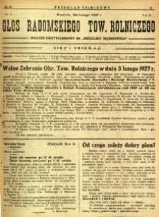 Przegląd Sejmikowy : Urzędowy Organ Sejmiku Radomskiego, 1927, R.6, nr 8, dod.