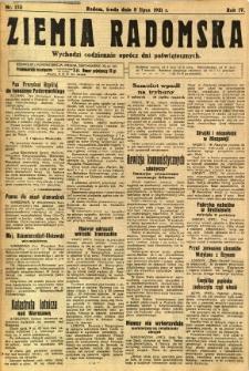 Ziemia Radomska, 1931, R. 4, nr 153