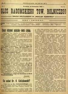 Przegląd Sejmikowy : Urzędowy Organ Sejmiku Radomskiego, 1927, R. 6, nr 15, dod.