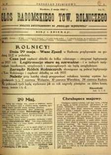Przegląd Sejmikowy : Urzędowy Organ Sejmiku Radomskiego, 1927, R. 6, nr 18, dod.