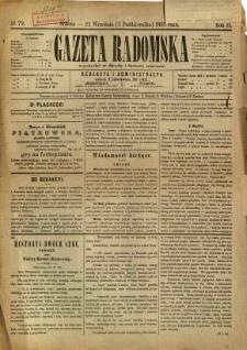 Gazeta Radomska, 1885, R. 2, nr 79