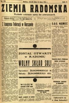 Ziemia Radomska, 1931, R. 4, nr 158