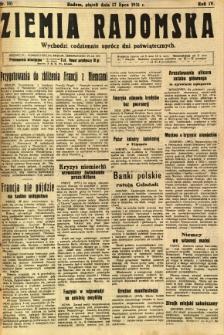 Ziemia Radomska, 1931, R. 4, nr 161