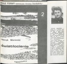 Kontakt : Wojewódzki Informator Kulturalny, 1985, nr 4, dod. Małe Formy nr 2