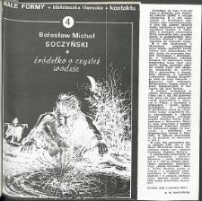Kontakt : Wojewódzki Informator Kulturalny, 1985, nr 11, dod. Małe Formy nr 4