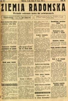 Ziemia Radomska, 1931, R. 4, nr 171