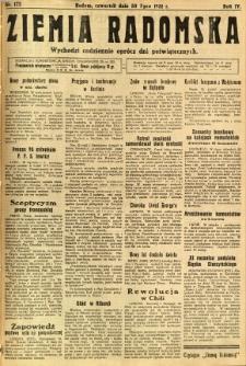 Ziemia Radomska, 1931, R. 4, nr 172