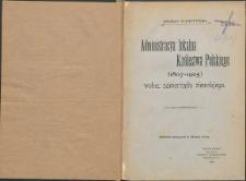 Administracja lokalna Królestwa Polskiego (1907-1905) wobec samorządu ziemskiego