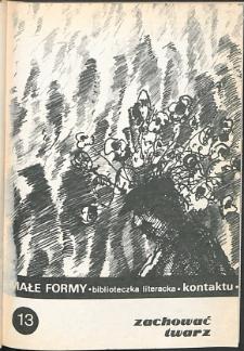 Kontakt : Wojewódzki Informator Kulturalny, 1987, nr 10, dod. Małe Formy nr 13