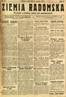 Ziemia Radomska, 1931, R. 4, nr 177