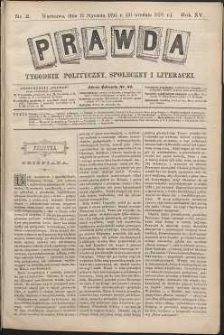Prawda : tygodnik polityczny, społeczny i literacki, 1895, R. 15, nr 2