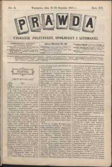 Prawda : tygodnik polityczny, społeczny i literacki, 1895, R. 15, nr 3