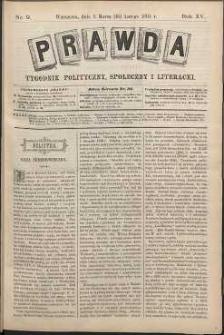Prawda : tygodnik polityczny, społeczny i literacki, 1895, R. 15, nr 9