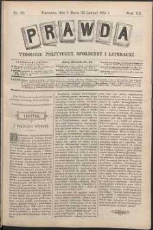 Prawda : tygodnik polityczny, społeczny i literacki, 1895, R. 15, nr 10